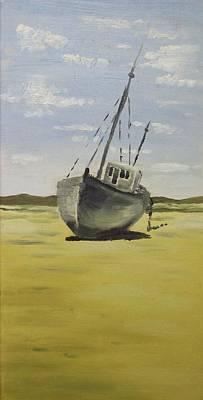Beached At Bunbeg Art Print by Alan Hogan