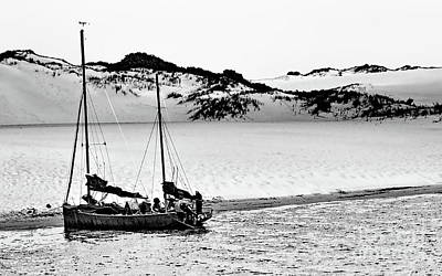 Photograph - Beached At Coorong Bw by Tim Richards