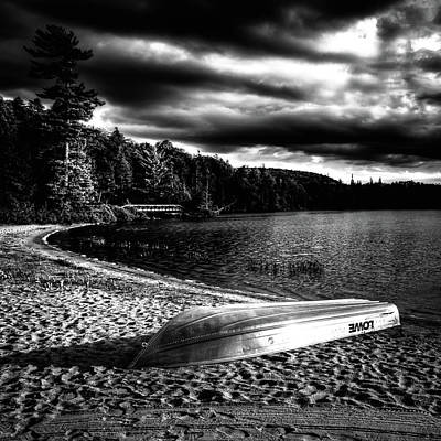 Beach Photograph - Beached At Sunset by David Patterson