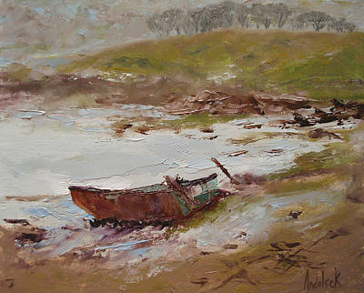 Beached Art Print by Barbara Andolsek