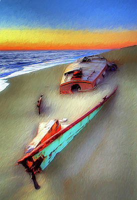 Painting - Beached Beauty On The Outer Banks Ap by Dan Carmichael