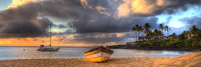 Sunset At The Beach Photograph - Beached Boat 3 by Sean Davey