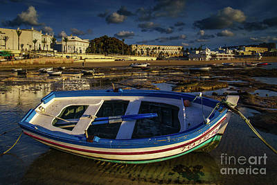 Photograph - Beached Boat At La Caleta Cadiz Spain by Pablo Avanzini