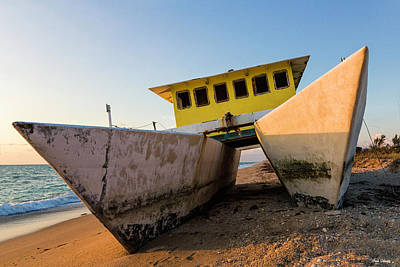 Photograph - Beached Boat by Fran Gallogly