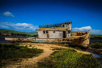 Point Reyes Photograph - Beached Boat by Garry Gay