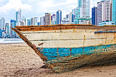 Photograph - Beached Boat by Kim Wilson
