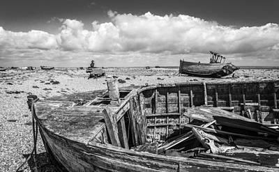 Photograph - Beached Boats. by Gary Gillette