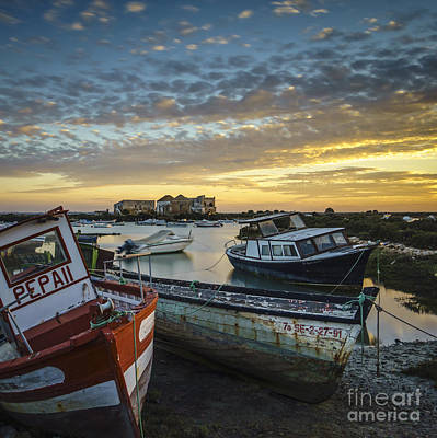 Photograph - Beached Boats On Trocadero Pipe Puerto Real Cadiz Spain by Pablo Avanzini