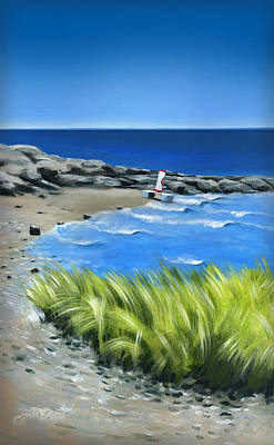 Painting - Beached Buoy by John Deecken