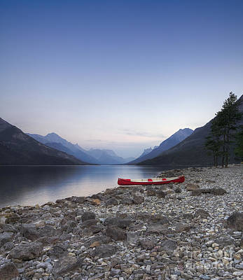 Beached Canoe Awaits Nightfall Art Print by Royce Howland
