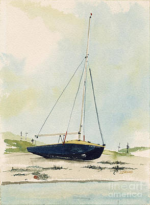 Cape Cod Painting - Beached by Dennis Drews