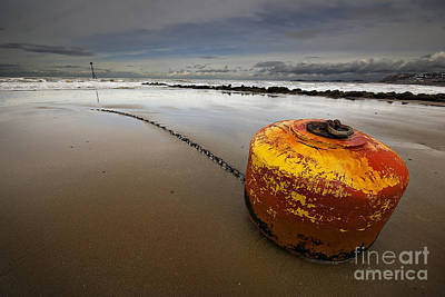 Buoys Photograph - Beached Mooring Buoy by Meirion Matthias