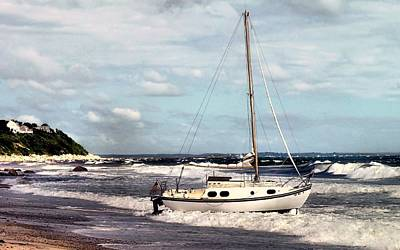 Photograph - Beached Sailboat by Janice Drew