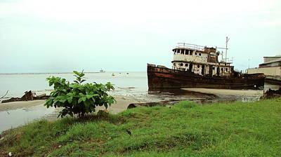 Photograph - Beached Ship by Brett Winn