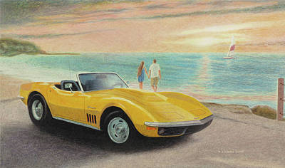Painting - Beached Stingray by Norb Lisinski