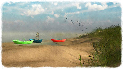 Digital Art - Beached... by Tim Fillingim