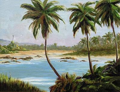 Beachfont Palms Art Print by Beth Maddox
