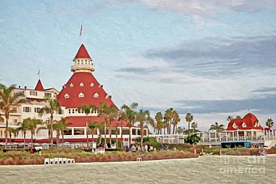 Photograph - Beachfront Hotel Del Coronado by Gabriele Pomykaj