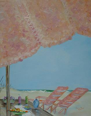 Painting - Beachfront Property by Judith Rhue
