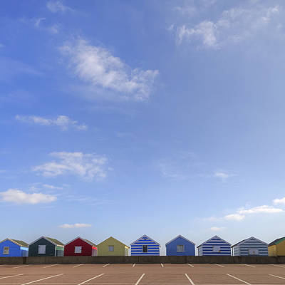 Beachhuts Art Print