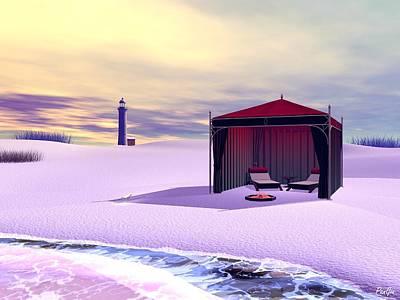 Digital Art - Beachin' It by John Pangia