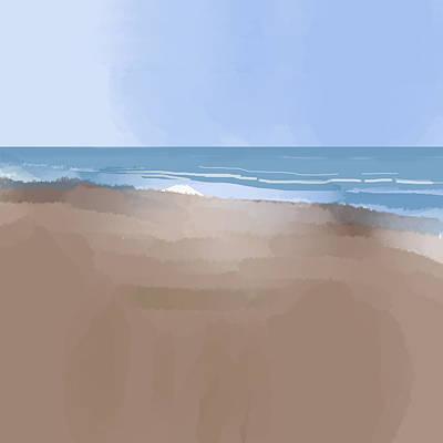 Digital Art - Beachscape 1 by Al G Smith