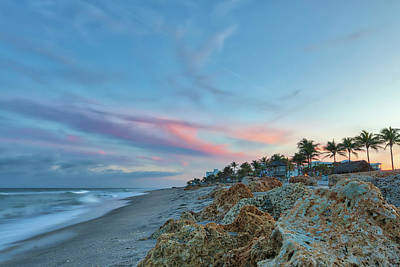 Photograph - Beachscape At Florida Deerfield Beach by Juergen Roth