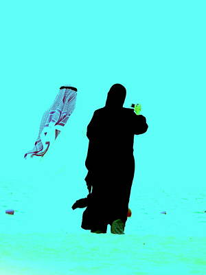 Funkpix Digital Art - Beachside Couple In Arabia by Funkpix Photo Hunter