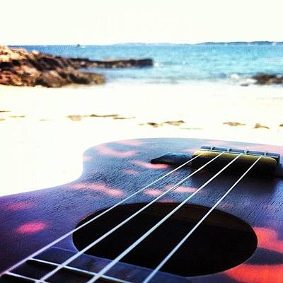 Guitar Photograph - Beachside Uke by Diego De Leon