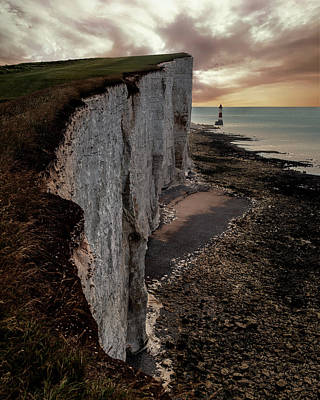 Photograph - Beachy Head Cliffs by Jaroslaw Blaminsky