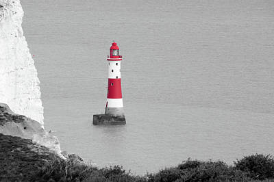 Photograph - Beachy Head Lighthouse by Helen Northcott