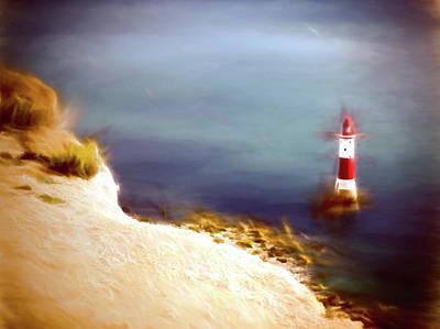 Beachy Head Lighthouse Art Print by Sharon Lisa Clarke