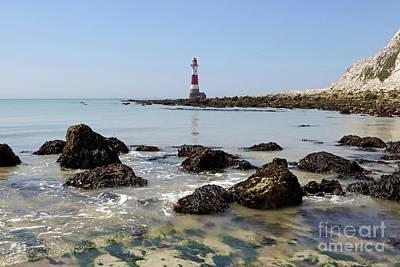 Photograph - Beachy Head The Lighthouse by Julia Gavin