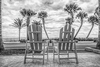 Photograph - Beachy Morning At Dawn In Black And White by Debra and Dave Vanderlaan