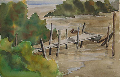 Painting - Beacon Dock by Libby  Cagle