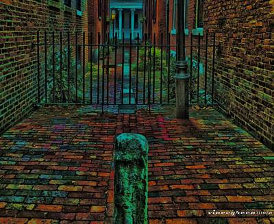 Digital Art - Beacon Hill Alley by Vincent Green