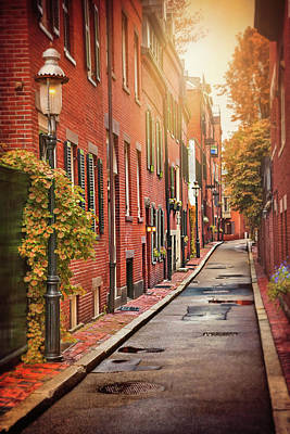 Beacon Hill Area Of Boston  Art Print by Carol Japp