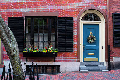Photograph - Beacon Hill Blue Door At Springtime by Toby McGuire