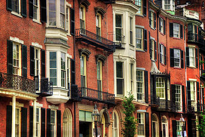 Photograph - Beacon Hill Brownstones - Boston by Joann Vitali