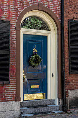 Photograph - Beacon Hill Door  by Susan Candelario