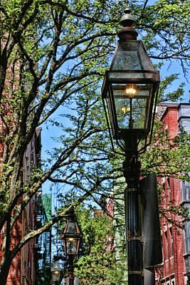 Photograph - Beacon Hill Gaslights - Boston by Allen Beatty