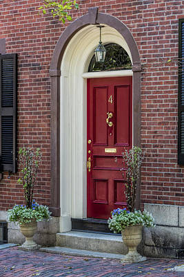 Photograph - Beacon Hill Red Door by Susan Candelario