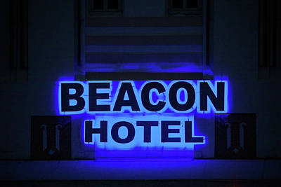 Photograph - Beacon Hotel Neon by Art Block Collections