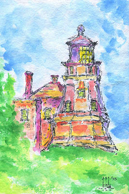 Split Rock Lighthouse Painting - Beacon On A Hill by Bruce Blanchard