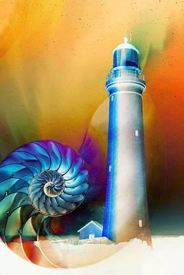 Lighthouse Mixed Media - Beacon by Jacky Gerritsen