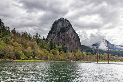 Photograph - Beacon Rock At Columbia River Gorge by David Gn