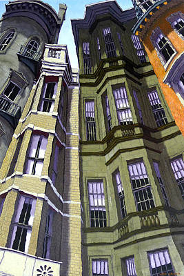 Brownstone Painting - Beacon Street I by Mike Gruber