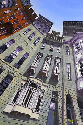 Brownstone Painting - Beacon Street II by Mike Gruber