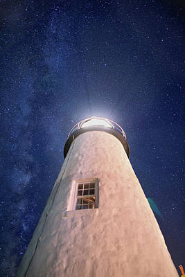 Photograph - Beacon Under The Stars by Jesse MacDonald