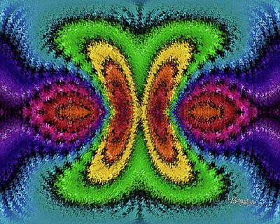 Digital Art - Bead Morph Apple Butterfly #130 by Barbara Tristan